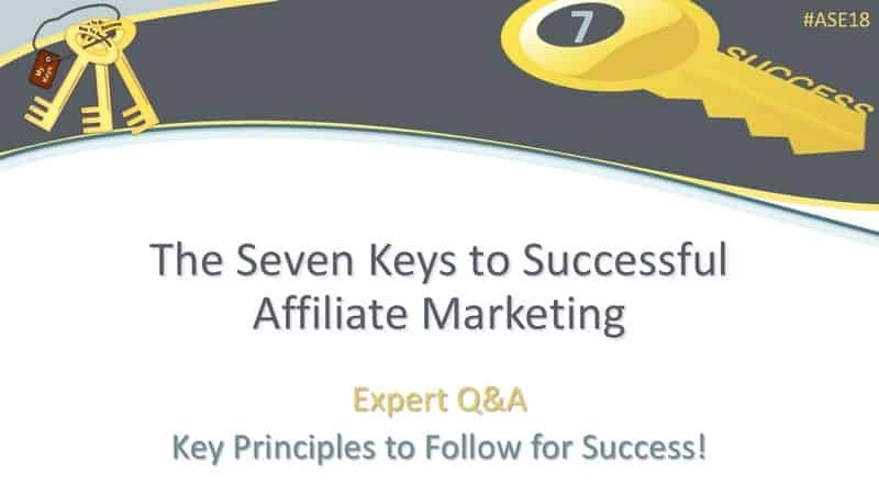 7 keys to successful affiliate marketing